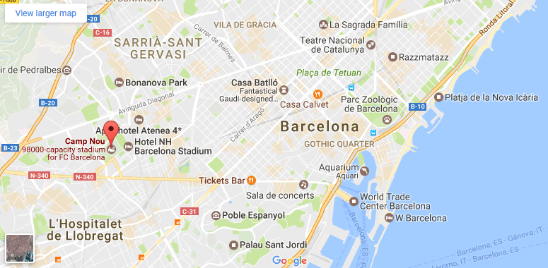 A Practical Guide For FC Barcelona Fans Spanish Trails Spanish - Barcelona map guide