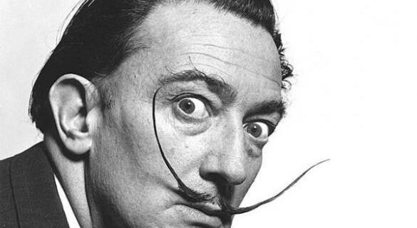 Salvador Dali with Mustache