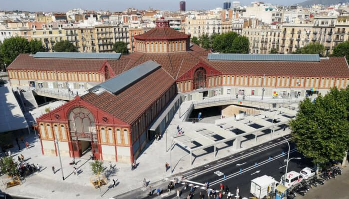 Aerial View of the Mercat de Sant Antoni