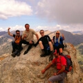 adventure climbing with friends