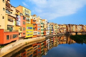 girona city reflection