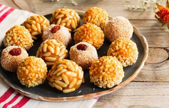 Catalan traditional dessert Panellets