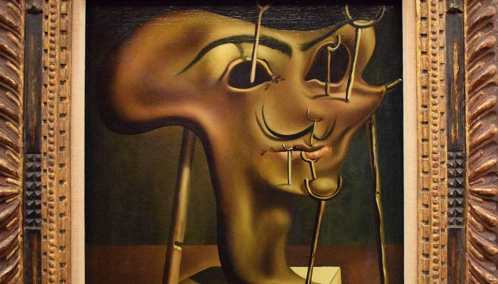 Painting - self portrait - Dali's melting face